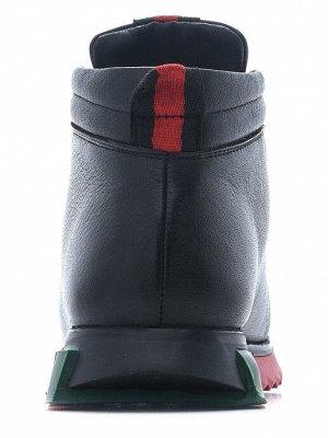 Ботинки Best Walk_320157-01_10_Ботинки женские_нат.кожа_байка черный  36-23 см  37-23,8 см