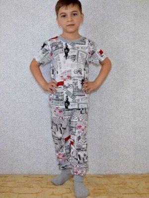 Футболка+брюки ГАЗЕТА.пижама летняя