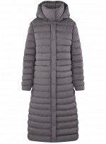 Пальто с утеплителем удлиненное
