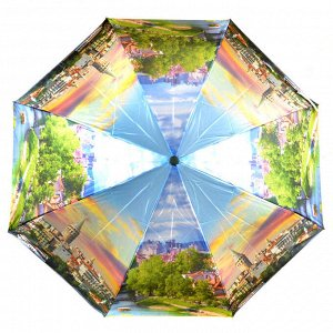 Зонт Компактный зонт в чехле Автомат. Гарантии рисунка нет