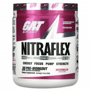 GAT, Sport, NITRAFLEX, арбуз, 294 г (10,4 унции)