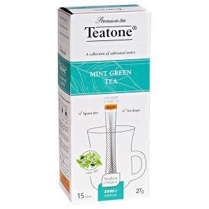 Чай чай TEATONE 'MINT GREEN' 15 стиков 1 уп.х 12 шт. Зелёный чай с ароматом мяты Зелёный чай с натуральной мятой издавна ценят за мягкий освежающий вкус и природную пользу. Вот почему этот легкий аром