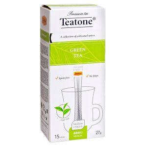 Чай чай TEATONE 'GREEN' 15 стиков 1 уп.х 12 шт. чай зеленый китайский байховый среднелистовой 100% Вековые традиции выращивания и заваривания превратили зеленый чай в особый напиток, вкус и аромат кот