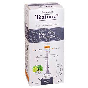 Чай чай TEATONE 'EARL GREY BLACK' 15 стиков Чай черный с ароматом бергамота Teatone в стиках для разовой заварки. Благородное сочетание мягкой терпкости классического черного чая с ярким ароматом берг