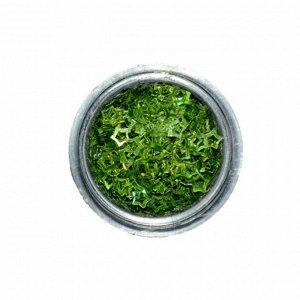 Пайетки для декора «Звёздочки», зеленые