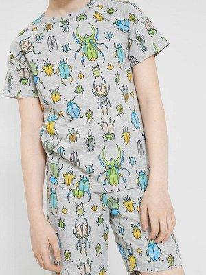 Пижама для мальчиков (фуфайка, шорты)
