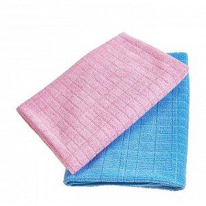 Мягкая тряпка из микрофибры с жаккардовым плетением (повышенная впитываемость, большая) 40 х 60 см / 200