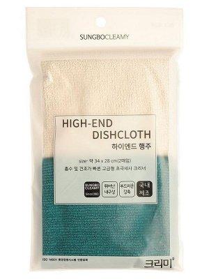 Тряпка из микрофибры с махровым плетением (износостойкая) (34 х 28 см) х 2 шт. / 180