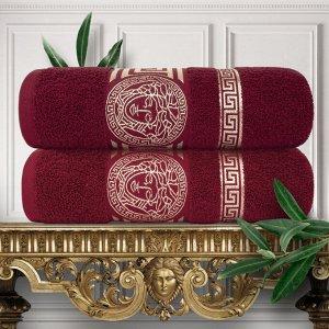 Набор из 2х полотенец  (Pandora) 70х130 см, Махра 430 г/м2 Бордовый