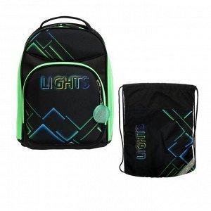 Рюкзак каркасный, Luris «Джерри 8», 36 x 27 x 20 см, наполнение: мешок для обуви, «Неон»