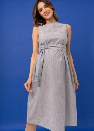 """Платье """"Иоланта"""" для беременных и кормящих; синий"""