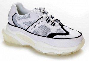 Кроссовки Страна производитель: Китай Размер женской обуви x: 35 Вид обуви: Кроссовки Пол: Женский Застежка: Шнуровка Цвет: Белый Материал верха: Натуральная кожа + текстиль Материал подкладки: Тексти
