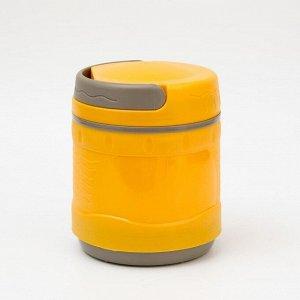 Термос для еды 1200 мл, DXС-1200-2, пластиковый с колбой из нержавеющей стали , микс