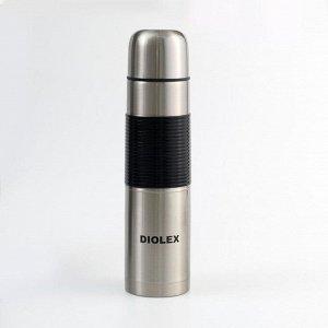 Термос Diolex 1000 мл c резиновым держателем DXR-1000-1 6996400
