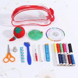 Набор для шитья, в сумочке, цвет МИКС