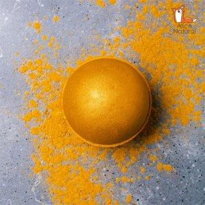 """""""Апельсин Царя Мидаса"""" Бомба для ванны ручной работы с шиммером"""
