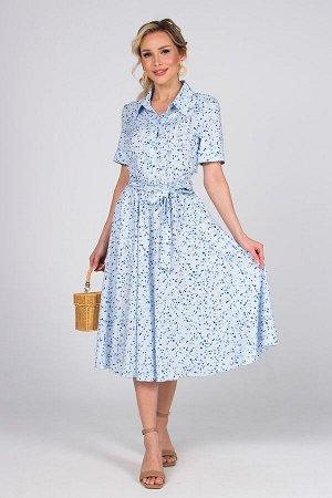 Платье Азалия №4.Цвет:голубой/синий