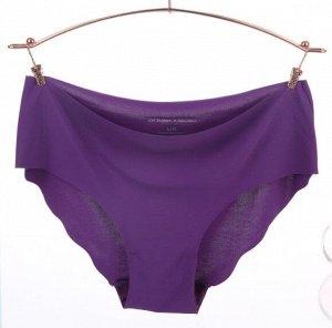 Женские бесшовные трусы, цвет фиолетовый