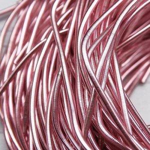 Канитель гладкая, цвет: розовый, размер: 1 мм, 5 грамм