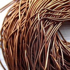 Канитель гладкая, цвет: бронза, размер: 1 мм, 5 грамм