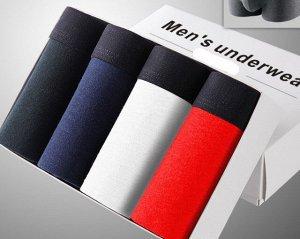 Набор мужских трусов (4 шт), цвет черный, синий, красный, белый