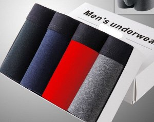 Набор мужских трусов (4 шт), цвет черный, синий, красный, серый