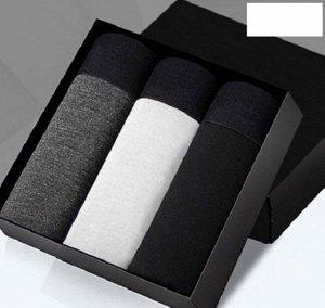 Наборы мужских трусов (3 шт), цвет серый, белый, черный