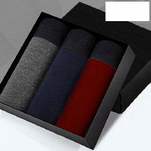 Наборы мужских трусов (3 шт), цвет бордо, серый, синий