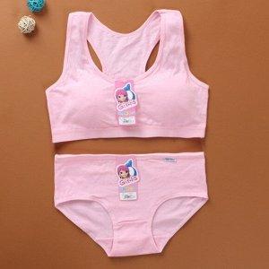 Комплект белья для подростков, цвет розовый