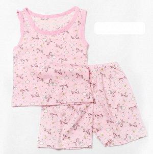 """Детский костюм с принтом """"единорог"""", цвет розовый"""