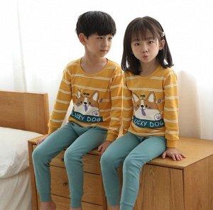 """Детская пижама с принтом """"корги"""""""