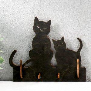 "Ключница открытая ""Две кошки""  20,5?17,5?3 см"