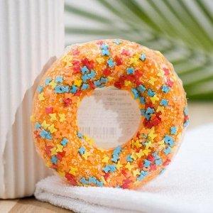 """Бомбочка для ванн """"Пончик. Оранжевый с посыпкой"""""""