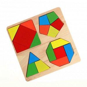 Деревянная игрушка «Рамка-вкладыш» 17,5?18?0,5 см