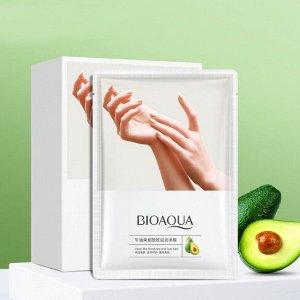 Восстанавливающая маска-перчатки для рук с маслом авокадо Bioaqua, 35 г