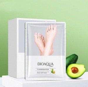 Восстанавливающая маска-носочки для ног с маслом авокадо BIOAQUA, 35 г