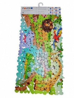 Коврик для ванной FOVERO SPA FOTOPRINT МАТОВЫЙ Камушки ПВХ 70х36см ДЕТСКИЙ АФРИКА