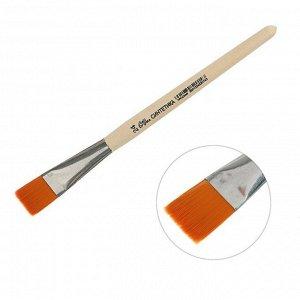 Кисть Синтетика Плоская №24 (ширина обоймы 24 мм; длина волоса 22 мм), деревянная ручка, Calligrata