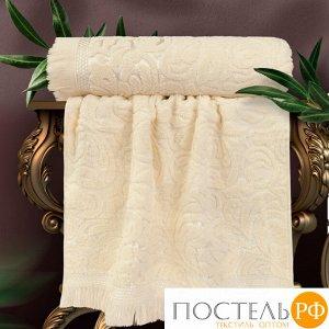 Набор из 2х полотенец жаккард Мадмуазель Бато Лавуар (Kamelia) 30х50 см, 450 г/м2, молочный