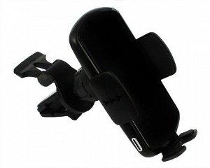 Автомобильный держатель Kstati CH-02 черный с QI + в комплекте ароматическая палочка