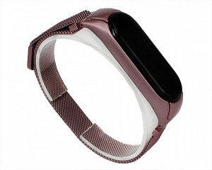 Ремешок Xiaomi Mi Band 5 Milanese Loop розовый #12