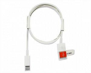 Кабель Type-C - USB белый с колпачком