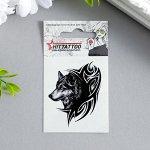 """Татуировка на тело """"Серый волк"""""""