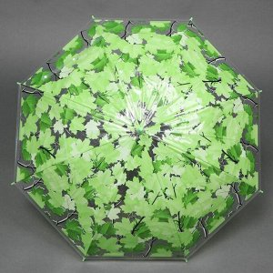 Зонт - трость полуавтоматический «Листопад», 8 спиц, R = 48 см, цвет МИКС