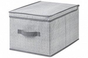 """Короб складной для хранения 30*40*25 см """"Твид"""" + ручка"""