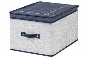"""Короб складной для хранения 30*40*25 см """"Деним"""" + ручка"""