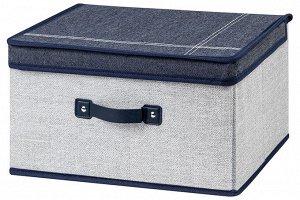 """Короб складной для хранения 35*30*20 см """"Деним"""" + 2 ручки"""