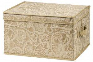"""Короб складной для хранения 35*30*20 см """"Золотое сердце"""" + 2 ручки"""