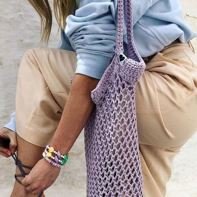 Модные повязки, популярны в этом сезоне — Хозяйственные сумки авоськи