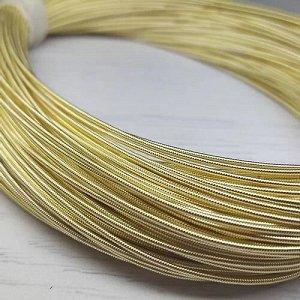 Канитель жесткая, цвет: светлое золото, размер: 1,2 мм, 5 грамм